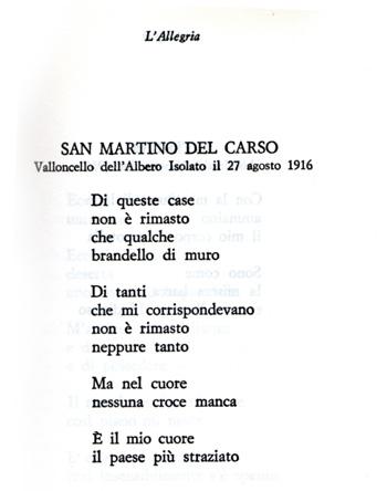 Giuseppe Ungaretti poesia